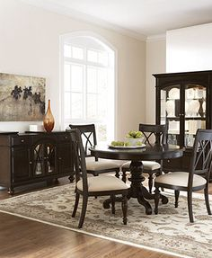 Bradford Dining Room Furniture 5 Piece Set Round Table And 4 Side Chairs