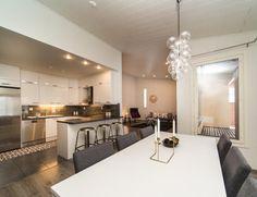 Asunnon sisustussuunnitelma 6 Dining, Kitchen, Table, Furniture, Home Decor, Food, Cooking, Decoration Home, Room Decor