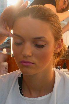 I love bright pink lipstick