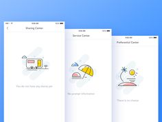 Default page design by luking Web Design, App Ui Design, User Interface Design, Page Design, Book Design, Flat Design, Onboarding App, App Home Screen, Empty State