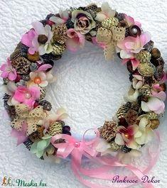 Vintage kopogtató (27 cm) (pinkrose) - Meska.hu Floral Wreath, Wreaths, Vintage, Diy, Home Decor, Do It Yourself, Flower Crown, Decoration Home, Door Wreaths