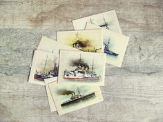 New members of the Pacific Postcards Team  #ephemera #postcards #vintage #antique #handmade #digital #imagery #ppt Russian Battleships  Soviet Vintage Postcards  set by OldTimeGoods, $16.00