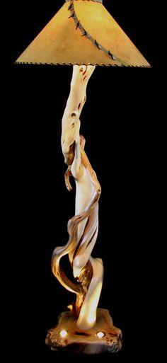 Rocky Mountain Twist Colorado Custom Juniper Wood Floor Lamp