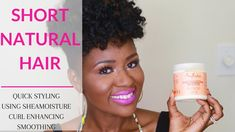 Tapered Cut Short Hair Quick Styling Shea Moisture Curl Enhancing Smoothie [Video] - http://community.blackhairinformation.com/video-gallery/natural-hair-videos/tapered-cut-short-hair-quick-styling-shea-moisture-curl-enhancing-smoothie-video/