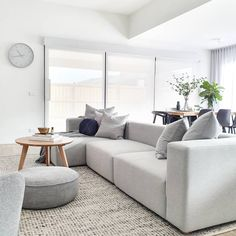 Happy Sunday So Glad To See The Sun Out Today We Haven T Gotten Around To Our Landscaping As Of Yet So Our Home Decor Beautiful Space Sectional Couch