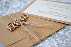 Προσκλητήριο Γάμου - 1714 Rustic Wedding, Wedding Ideas, Gift Wrapping, Romantic, Invitations, Gifts, Vintage, Gift Wrapping Paper, Presents