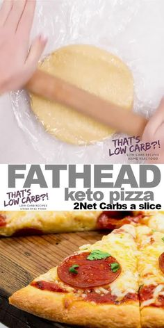 Fathead Pizza Dough brings the low carb magic to your pizza lover lifestyle. Because being Keto doesn't mean having to give up your favorite dishes. Low Carb Pizza, Low Carb Diet, Low Carb Dinner Recipes, Keto Dinner, Pain Keto, Real Food Recipes, Healthy Recipes, Pizza Recipes, Healthy Life