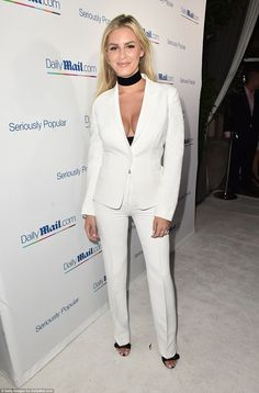 Eye-catching: Rich Kids Of Beverly hills blonde Morgan Stewart turned heads as she hit the...