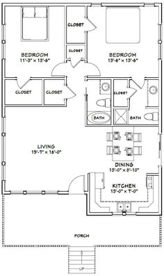 Guest House Plans, Small House Floor Plans, Pole Barn House Plans, Cabin Floor Plans, Pole Barn Homes, A Frame Floor Plans, Small House Plans Under 1000 Sq Ft, A Frame House Plans, The Plan