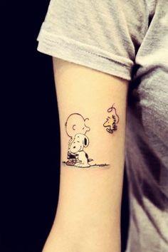 Cute Charlie Brown tattoo