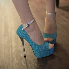 Frete Grátis Moda Fivela Peep Toe Sandálias Sexy Plataforma sapatos de salto alto EUR Tamanho (35-39) 4015 da loja Pixie $28,79