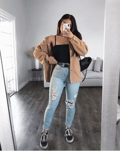 Trendy Fall Outfits, Casual Winter Outfits, Winter Fashion Outfits, Mode Outfits, Retro Outfits, Simple Outfits, Look Fashion, Stylish Outfits, Trendy Fashion