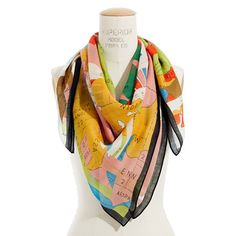 Statelines Storyteller Scarf from Madwell. One of these days I am going to have to order one of their scarves. Fashion Identity, Neck Scarves, Square Scarf, Neck Warmer, Womens Tote Bags, Style Inspiration, Travel Inspiration, Storytelling, Women's Accessories