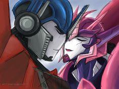 elita one and optimus prime comic drawings | :TFP Optimus/Elita-1, because they don't get enough love. Elita ...