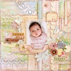 gorgeous baby scrapbook page