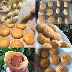 Τυροπιτάκια κουρού για το απογευματινό,για τη δουλειά,για το κολατσιό,για πάρτυ...για όλες τις περιστάσεις! Pretzel Bites, Sausage, Recipies, Muffin, Cooking Recipes, Bread, Snacks, Vegetables, Breakfast