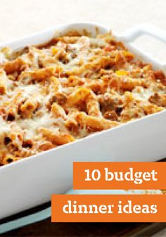 10 Budget Dinner Ideas – Our wide collection of budget dinner recipes help you create delicious meal ideas while being easy on your wallet.