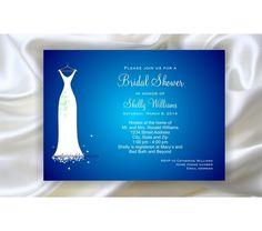 New design  just tell us your wedding colors Digital Bridal Shower Invitation - Wedding Dress, $10.0