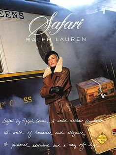 All Ralph Lauren Ads 2014-15 | Details about 1990 Ralph Lauren Kim Nye Safari 3-page magazine ad