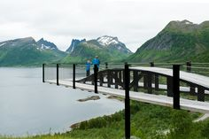 National Tourist Routes in Norway    - scenic roads for exploring Norway's breathtaking landscapes    -Bergsbotn viewing platform high above the Bergsfjord.    Photo: Roger Ellingsen