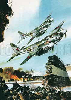 The De Havilland Mosquito – Historical articles and illustrations Ww2 Aircraft, Military Aircraft, Air Fighter, Fighter Jets, Air Force Bomber, Fixed Wing Aircraft, De Havilland Mosquito, Old Planes, Airplane Art