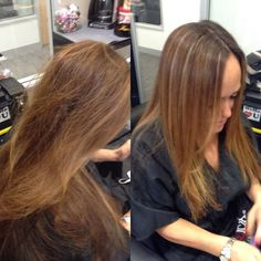 Base color  full head of highlights color melting and blending. This client is scheduled for a @cezanne_hair #smoothingtreatment on Friday. I color up because most times with a smoothing treatment there is a shift in color. #lahair #wehohair #westhollywoodhair #beverlyhills #beverlyhillshair #hair #frizzfreehair #frizzyhair #smoothhair #beautifulbrunette #brunette #ecaille by patricialynnlaas