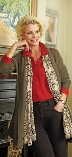 Women of all ages look great in leopard - actually older women often look better in leopard than younger women - photo dash prshots - click to read how to wear leopard right when you're a woman over 40 50 60 at http://boomerinas.com/2012/10/animal-prints-for-women-over-40-50-60/