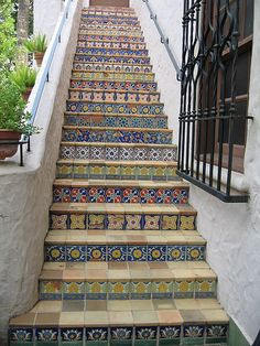 tiled stairs by evso, via Flickr