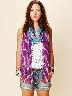 Free People Tie Dye Scarf at Free People Clothing Boutique