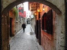 Sisi street at the Armenian quarter, Jdeydeh district, Aleppo