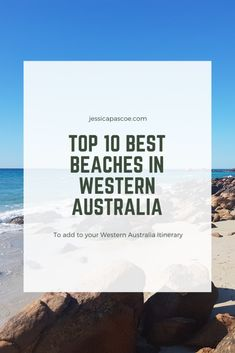 Top 10 Beaches to add to your Western Australia itinerary - Jessica Pascoe Australia Tours, Australia Travel Guide, Visit Australia, Queensland Australia, Western Australia, Bucket List Destinations, Travel Destinations, Things To Do In Brisbane, Travel Deals