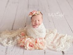 Simple yet detailed grapevine crown with delicate handmade paper flowers and foliage is the perfect accessory for your newborn photo session, blessing, or other special event. Matching mama and sister floral crown available in the flower crowns collection. COLORS   Peach • pink • lime green • ivory SIZING   Tie Back • will fit up to 12 months   larger size available in our store for kids & adults DETAILS   Flower types my vary slightly depending on seasonal availability PICTURED WITH ...