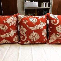 ☀️ Pattern: Wouwou Rust from the Alligator Alley Collection 🐊 Window Treatments, Custom Pillows, Bed, Pillows, Custom Bed, Throw Pillows, Outdoor Pillows, Outdoor Fabric