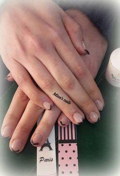 Kiriaki's black french nails <3 <3