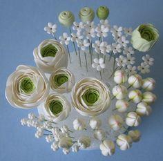 The Petalsweet Blog: Sugar Flower Ranunculus Cake Topper