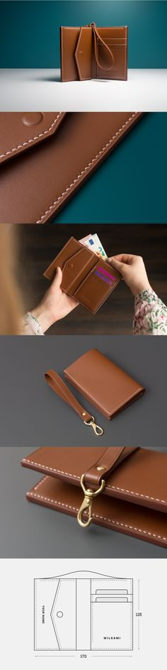Charlotte Billfold Wallet with coin pocket | WILKAMI Handcrafted Leather Goods