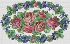Gallery.ru / Permin 70-7019в - Nostalgia Permin - lavada1 FINISHED VICTORIAN ROSES