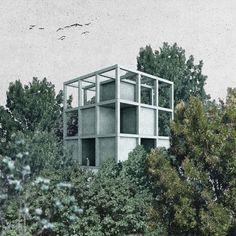 PEDRO DUARTE BENTO_KORREKTUR | HOUSE AT THE PRECISE CENTER OF THE KOBERNAUSSER FOREST, ARCHITECTURAL FOLLY, 2015_1