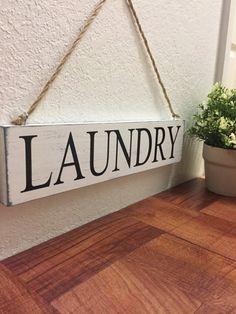 Wooden Laundry sign Laundry Room Decor Hanging by DesignerDog173