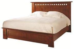 Stickley Highlands Bed - craftsman - Beds - New York - Stickley Furniture Craftsman Bed Frames, Craftsman Furniture, Oak Bedroom Furniture, Mission Furniture, Furniture Design, Platform Bed Designs, Platform Bed Frame, Modern Wooden Bed, Saints