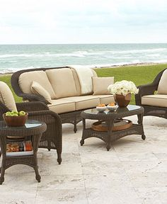 Need some new patio furniture for by the pool.  Monterey Outdoor Patio Furniture Seating Sets & Pieces - Patio & Outdoor Furniture - furniture - Macy's