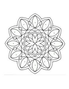 simple-mandala-coloring-page-printout | mandalas ...