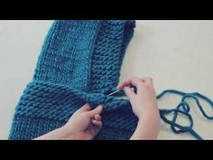 Love Wool DIY circular needles: Cuello capucha · Neck warmer hood - YouTube