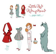 Little Red Riding Hood paper doll [Hitrecord] 64/365 [04/03/2012] www.Sibylline.fr