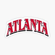 'Atlanta Basketball Throwback' Sticker by sportsign Nba Basketball Teams, Golf Stores, Atlanta Hawks, Nba Champions, Sports Fan Shop, Stickers, Converse, Travel, Viajes