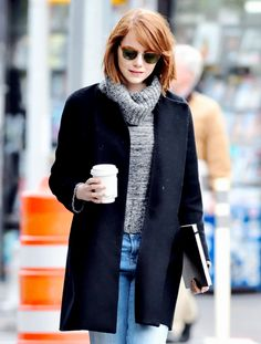 Emma Stone out and about in New York City on October 29th, 2014.