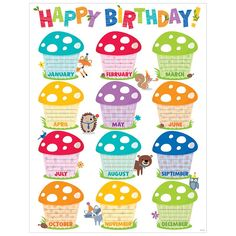 Creative Teaching Press - Woodland Friends Happy Bday Chart on sale now! Get huge savings on all of your teacher supplies at DK Classroom Outlet. Birthday Chart Classroom, Preschool Birthday, Birthday Bulletin Boards, Birthday Charts, Birthday Board, Birthday Calendar, Kindergarten Classroom Decor, Classroom Themes, Classroom Rules