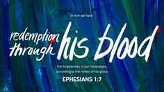 """In him we have redemption through his blood, the forgiveness of our trespasses, according to the riches of his grace …"" —Ephesians Easter Scriptures, Bible Scriptures, Bible Art, Esv Bible, Scripture Verses, Encouraging Bible Verses, Favorite Bible Verses, Biblical Quotes, Bible Software"