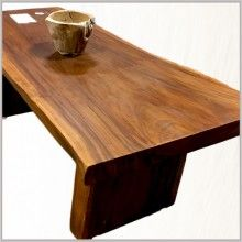 Raintree Monkeypod Suar Wood Live Edge Solid Top Dining Table Bhome Bandon Oregon