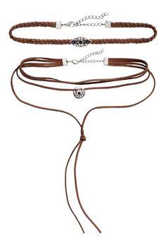 2-pack necklaces - Brown - Ladies | H&M 1